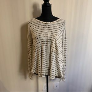 Urban Outfitters Striped Openback Sweater Medium